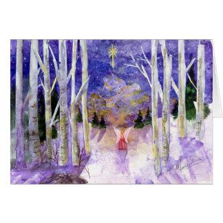 Ángel de la paloma del navidad tarjeta de felicitación