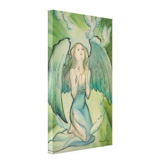 Ángel de la paz lona envuelta para galerias