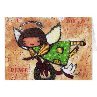 Ángel de la paz y de la alegría tarjeta de felicitación