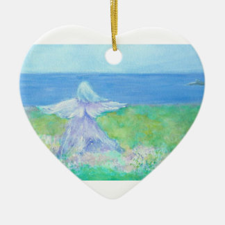 Ángel de la playa con el ornamento del navidad del adorno de navidad