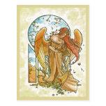 Ángel de la postal del otoño