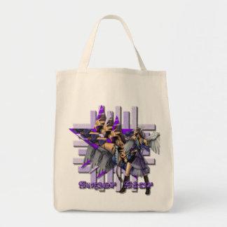 Ángel de la superestrella - tote orgánico del bolsa de mano