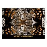 Ángel de la tarjeta de felicitación del navidad