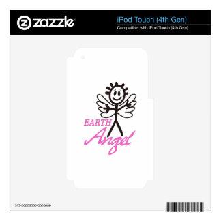 Ángel de la tierra iPod touch 4G calcomanía