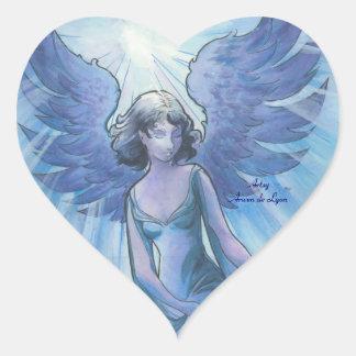 Ángel de la tolerancia pegatina en forma de corazón