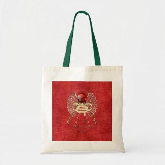 Ángel de las Felices Navidad - rojo Bolsa Tela Barata