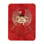 Ángel de las Felices Navidad - rojo Imán