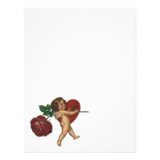 Ángel de las tarjetas del día de San Valentín del Membrete A Diseño