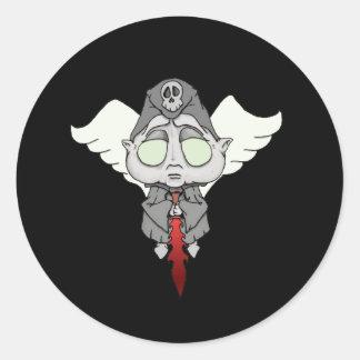 Ángel de Lil de la muerte Pegatina Redonda