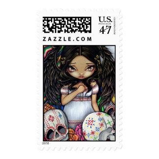 """Angel de los Muertos"" Stamp"