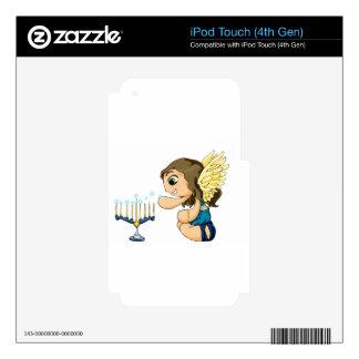 Ángel de Menorah iPod Touch 4G Skins