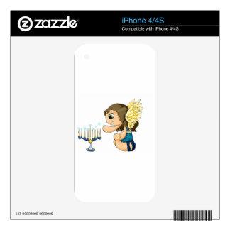 Ángel de Menorah Skins Para eliPhone 4