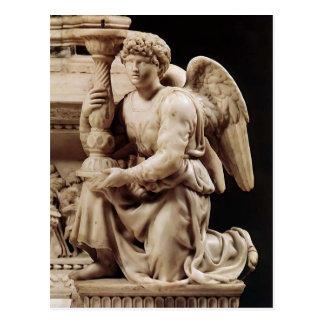 Ángel de Miguel Ángel con la palmatoria Postal