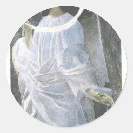 Ángel de Mikhail Vrubel- con el incensario y la Etiqueta Redonda