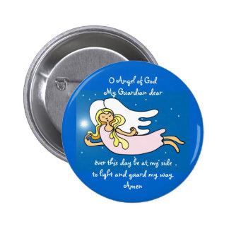 Ángel de O de dios mi guarda estimado Pin Redondo De 2 Pulgadas