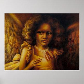 Ángel de oro póster
