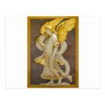 Ángel de oro tarjeta postal