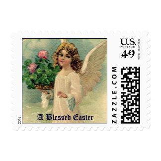 Ángel de Pascua del Victorian del vintage con las Sello