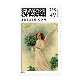 Ángel de Pascua del Victorian del vintage con las Sellos