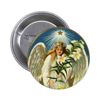 Ángel de Pascua del vintage, cordero, flor del Pins