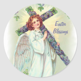 Ángel de Pascua Pegatina Redonda