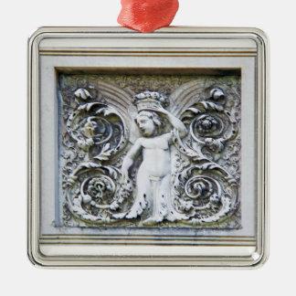 Ángel de piedra del ornamento de la abundancia ornamente de reyes
