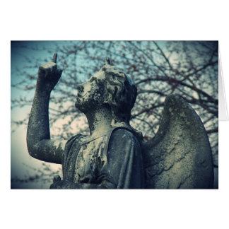 Ángel de piedra en Washington, Iowa Tarjeta De Felicitación
