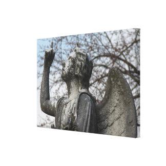 Ángel de piedra impresiones en lona estiradas