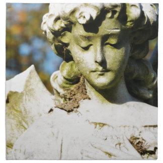 Ángel de piedra servilletas imprimidas