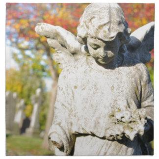Ángel de piedra servilletas de papel