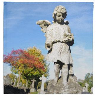 Ángel de piedra servilleta