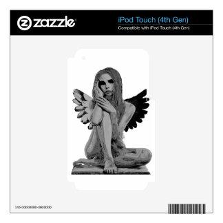 Ángel de piedra skins para iPod touch 4G