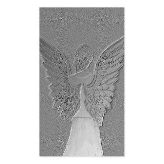 Ángel de plata conmemorativo de la tarjeta el | tarjetas de visita