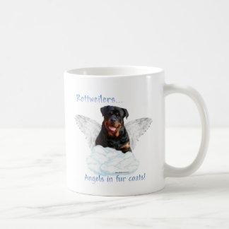 Ángel de Rottweiler Taza Clásica