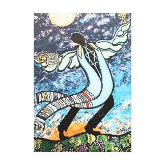 Ángel de Shabbat Lona Envuelta Para Galerias