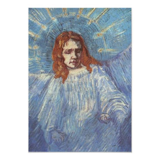 """Ángel de Vincent van Gogh Invitación 5"""" X 7"""""""