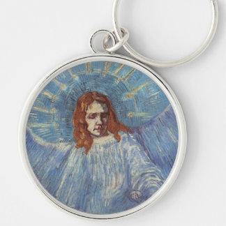 Ángel de Vincent van Gogh Llavero Redondo Plateado