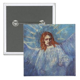 Ángel de Vincent van Gogh Pin Cuadrado
