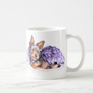 Ángel de Yorkshire Terrier Yorkie Taza