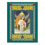 Ángel debajo de una estrella tarjeta postal