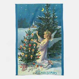 Angel Decorating Christmas Tree 2