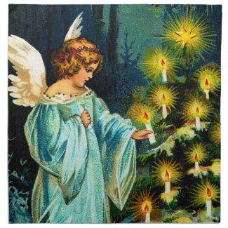 Ellen H. Clapsaddle: Angel Decorating Christmas Tree