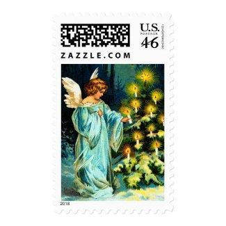 Ellen H. Clapsaddle: Angel Decorating Christmas Tree