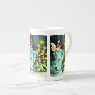 Angel Decorating Christmas Tree Tea Cup