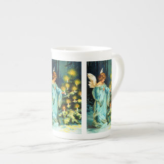 Angel Decorating Christmas Tree Tea Cup