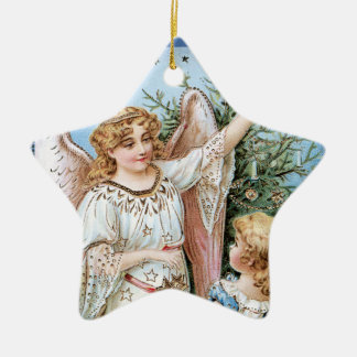Angel Decorating the Tree Christmas Ornaments