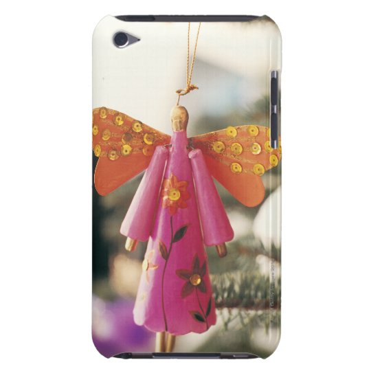 Angel Decoration Hanging from a Christmas Tree iPod Touch Cover