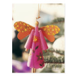 Angel Decoration Hanging from a Christmas Tree Postcard