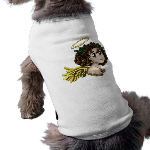 Ángel del acebo playera sin mangas para perro