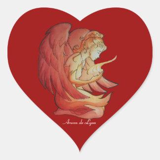 Ángel del alcohol 2 calcomanías de corazones personalizadas
